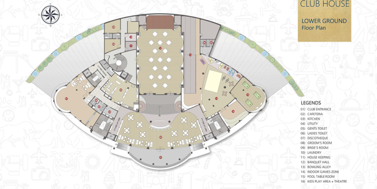 club House Lower Ground Floor Plan