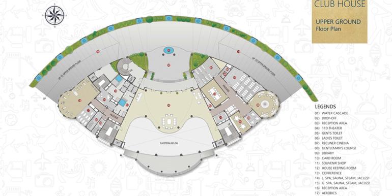 club House Upper Ground Floor Plan